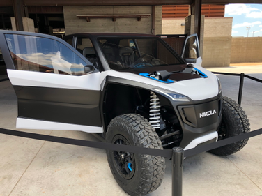 Every Nikola NZT comes standard with four independent motors, one at each wheel.