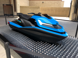The Wav from Nikola is an all-electric sit-down personal watercraft runs more or less silently...