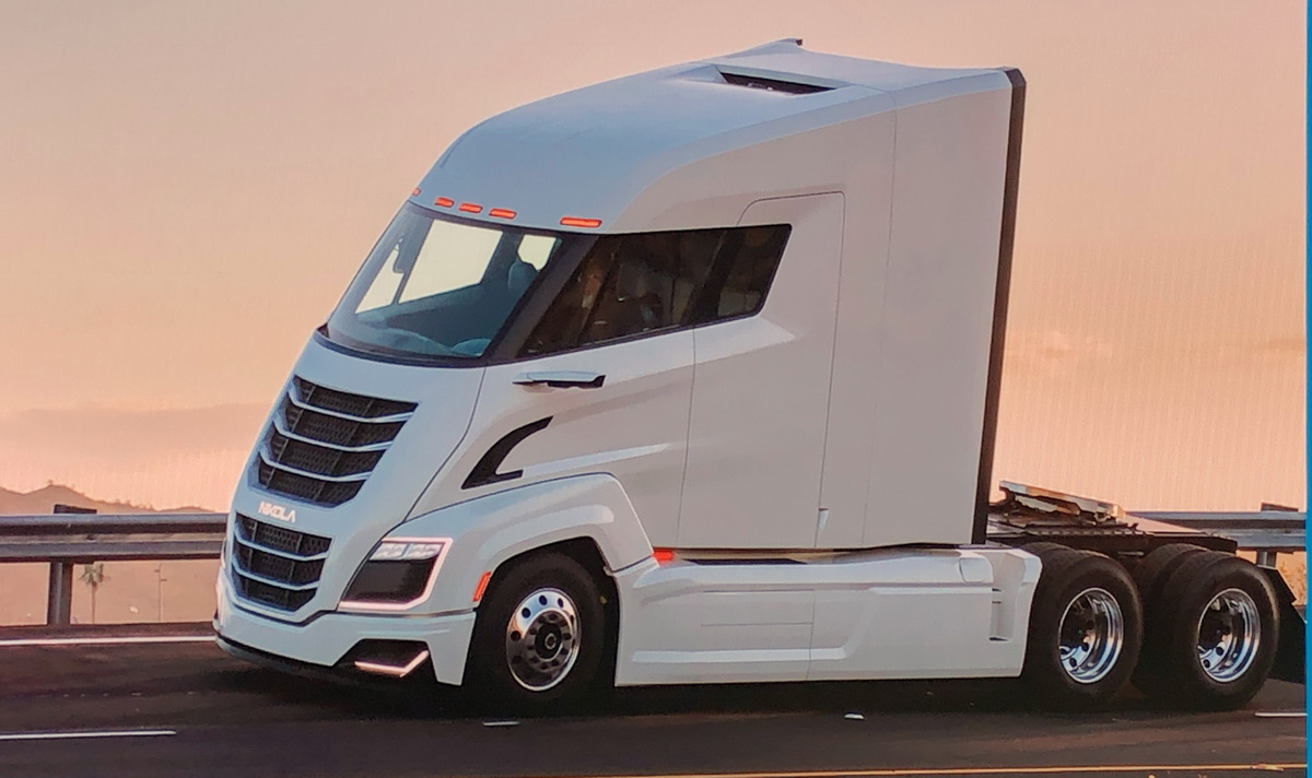 The Nikola Two Hydrogen Electric Truck Up Close [Photos]