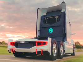 Another stock shot showing the rear end of the Nikola 2. We're not sure how long those rear...
