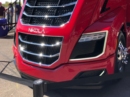 The Nikola Two's driver sits about four feet further forward than in a typical conventional...