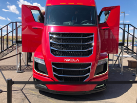 The frontal profile of the Nikola Two is quite unlike any other truck in existence.