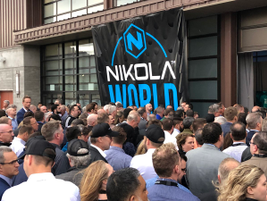 More than 2,000 people attended the opening of Nikola World.