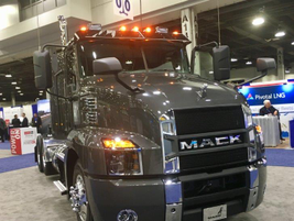 The Mack Anthem with its Bulldog-bold styling has a way of standing out wherever it shows up.
