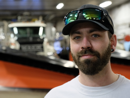 "Alaska DOT snow plow driver, Tavis Chaffin. ""It only takes 30 minutes to make a lap [around the..."
