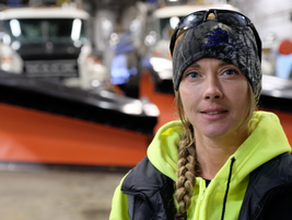 "Alaska DOT snow plow driver, Moana Bradshaw. ""There are usually two of us on shift at night, and..."