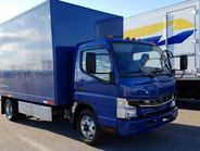 The Fuso eCanter is Daimler's first all-electric production truck. It was unveiled in New York...