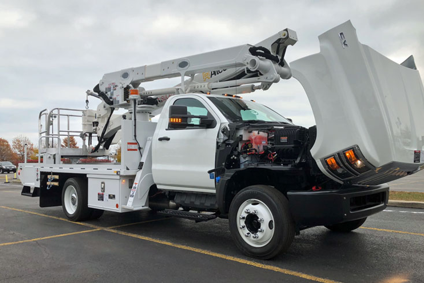 The new CV work trucks offer easy engine access thanks to the hood design. And there's no need...