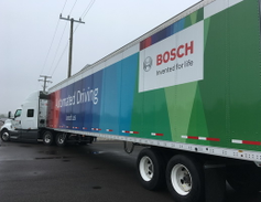 """From the """"future technologies"""" file, I got to drive a truck equipped with Bosch's new electric..."""
