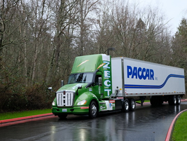 Seattle in February can be a dreary place but driving a battery-electric Kenworth T680 powered...