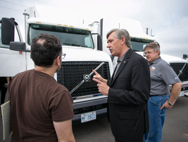 Keith Brandis, Volvo Trucks North America vice president for product planning, explains the...