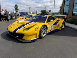 These Ferrari 488 GTs race cars can easily hit 160 mph on the race track.