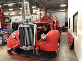 This 1943 Mack Fire Engine is being restored by the technicians at TEC Equipment in Portland.