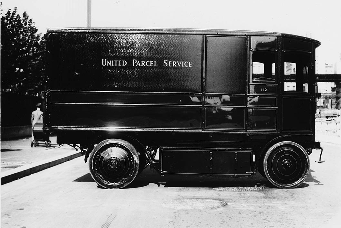 A Walker electric package car used by UPS in New York in 1940.