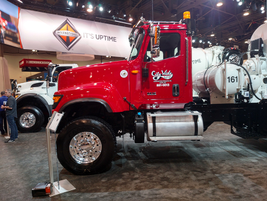 International Trucks showed its full line of construction-ready models, including the HX...