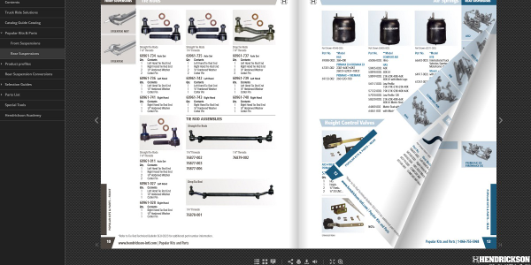 Hendrickson has launched an online digital truck suspension systems parts catalog that is...