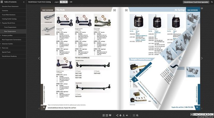 Hendrickson has launched an online digital truck suspension systems parts catalog that is accessible from any mobile device or desktop computer.