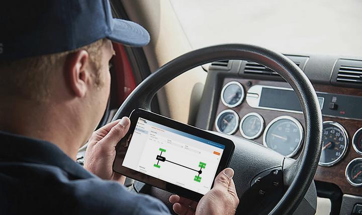 Advantage PressurePro's Fleet TPMS app isa comprehensive tire performance management tool for fleets. - Photo: Advantage PressurePro