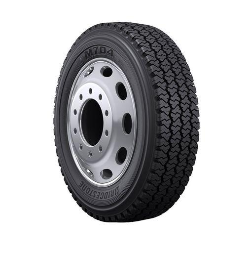 The Bridgestone M704 tire is the company's newest,high-scrub, all position tire for regional fleets. - Photo: Bridgestone