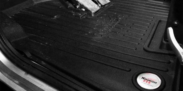 Minimizer's new line of heavy duty floor mats is designed for medium-duty Peterbilt trucks.