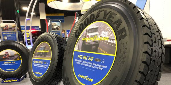 Gooyear said ideal applications for the Fuel Max RTD tire include straight trucks, day cabs, box...