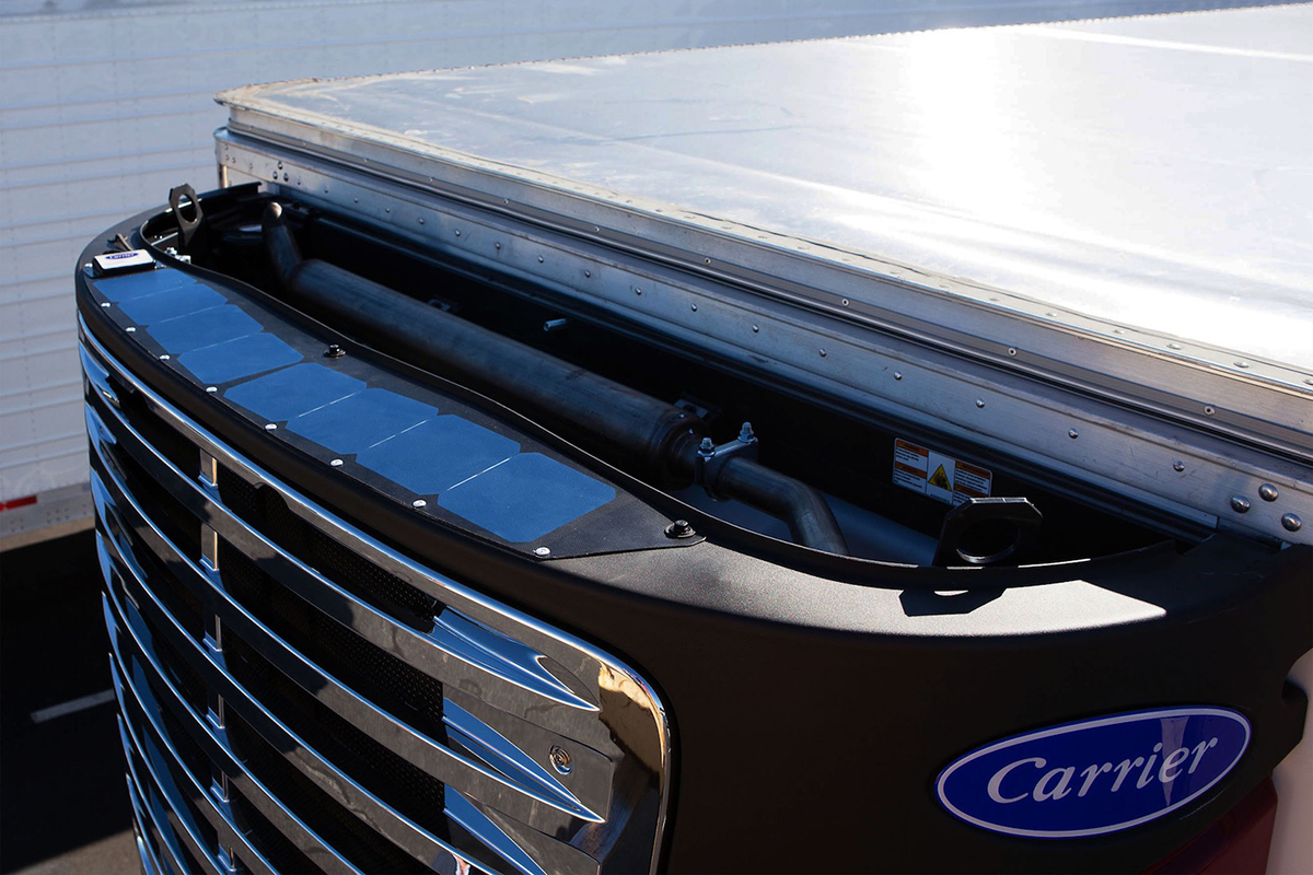 Carrier Transicold Launches Solar-Powered Trailer Refrigeration System