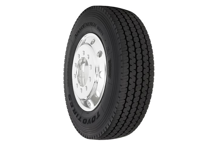 The new NanoEnergy M671 super regional drive tire is available now in three sizes: 295/75R22.5 G/14, 11R22.5 G/14, and 11R22.5 H/16. - Photo: Toyo Tires