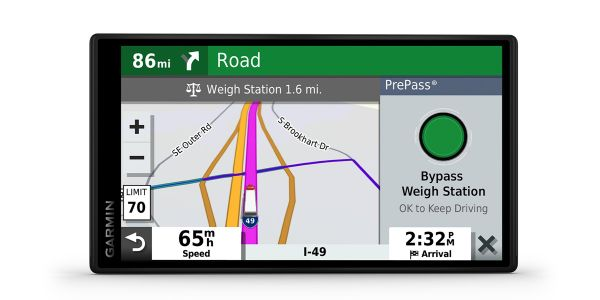 Garmin added a new 5-and-a-half-inch display option to its dēzl OTR series of GPS truck navigators.