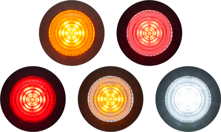 MCL16 Series lamps include models featuring a yellow lens, a red lens, a clear lens that is yellow when illuminated, and a clear lens that is red when illuminated. -