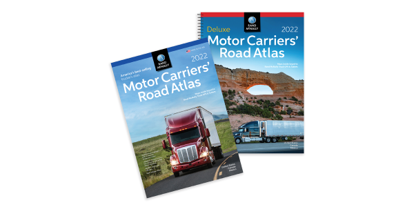 Rand McNally's Motor Carriers' Road Atlas features updated maps that highlight truck-accessible...