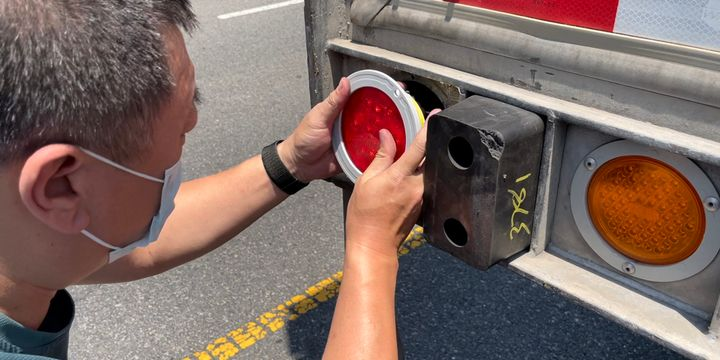 Trucker Tools is integrating with Anytrek's TrackLight unit, the company's flagship product which is a fully functioning taillight with a GPS tracker inside a 4-inch round or 6-inch oval taillight. - Photo: Trucker Tools