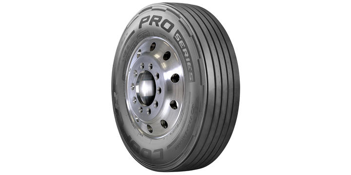 The Cooper PRO Series Long Haul Steer 2 tire features a patent pending shoulder decoupling rib to providedadded toughness on the edge of the tire to minimize irregular wear and damage caused by curbing. - Photo: Cooper Tire