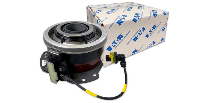 Eaton's new concentric pneumatic clutch actuators serve as an aftermarket replacement for the clutch actuator used in the Detroit Diesel DT12, the Volvo I-Shift and Mack mDRIVE automated manual transmissions. - Photo: Eaton