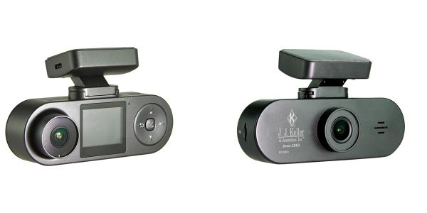 J. J. Keller's NC200D dash cam offers event-based video capture of both the road and the driver.