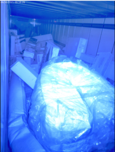 If a cargo load has shifted during transport, Phillips Connect's CargoVision will show a red light, indiciating the load inside is unsafe. - Photo: Phillips Connect
