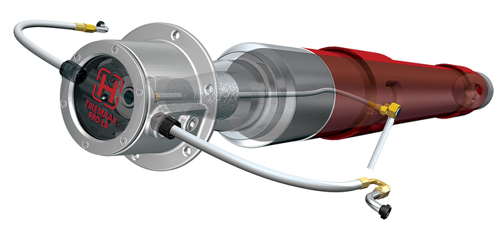 Hendrickson's next-generation tire pressure control system, Tiremaax Pro-LB inflates, relieves and equalizes tire pressures across all wheel positions with the added benefit of load-based pressure adjustments. - Photo: Hendrickson