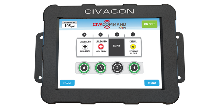 Civacon's CivaCommand/CivaConnect Smart Tank System is the company's latest innovation that uses digital communication technology to monitor all fuel loading/unloading activities. - Photo: Civacon