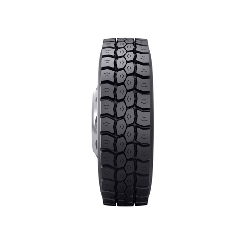 The Bandag BDM3 retread features a non-directional tread pattern that delivers traction in various on/off-highway environments and helps reduce mounting complexity.