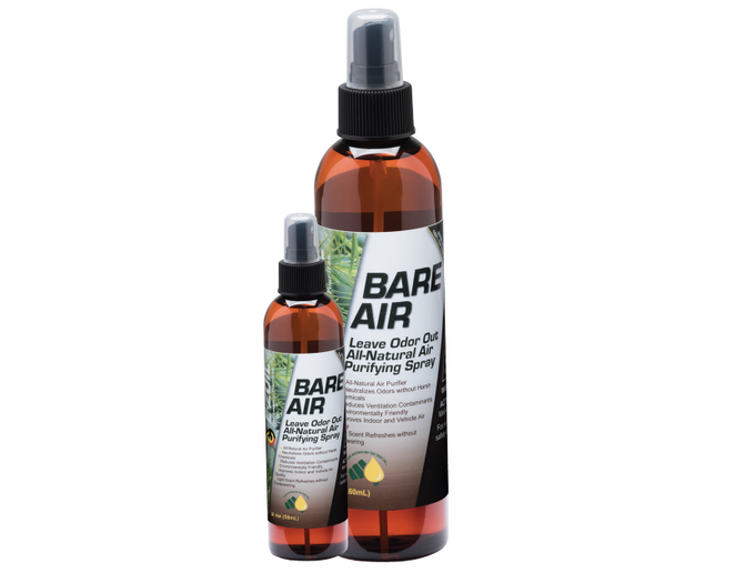 E-Zoil's Bare Air is an air spray that uses pharmaceutical grade tea tree oil to disperse odors and purify the air.  - Photo courtesy E-Zoil