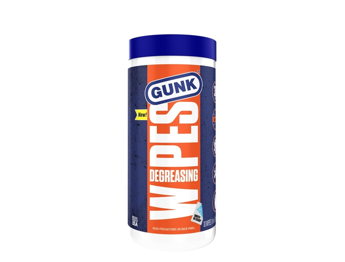 Gunk Wipes are an industrial strength, no-rise solution for cleaning and degreasing engines and equipment.  - Photo via RSC Chemical Solutions