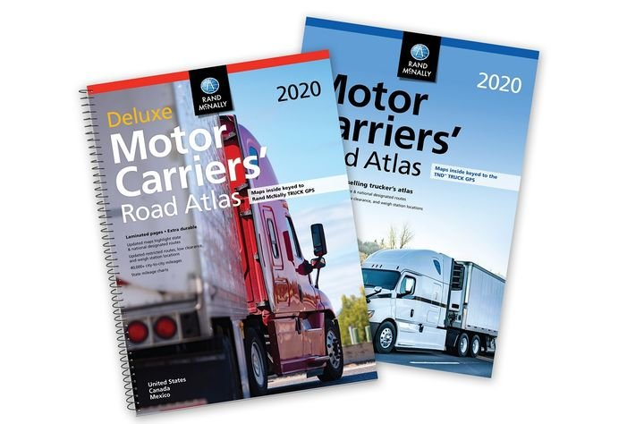 Rand McNally has released the 2020 edition of its Motor Carriers' Road Atlas, available in paperback and a version with laminated pages and spiral binding.