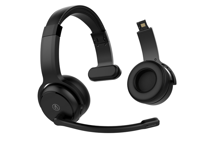 ClearDryve 50 is a 2-in-1 headset for drivers that is designed to convert from stereo headphones into a one-sided mono headset with noise canceling microphone.  - Photo courtesy Rand McNally