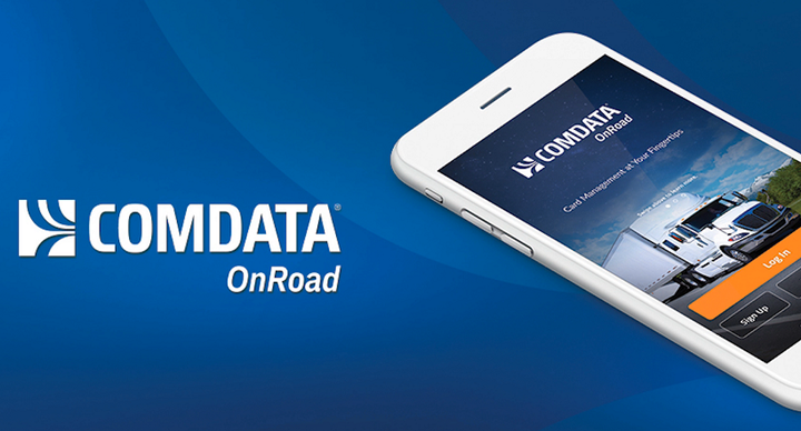 The Comdata OnRoad App is designed to reduce the time it takes drivers to send and receive money.  - Image via Comdata