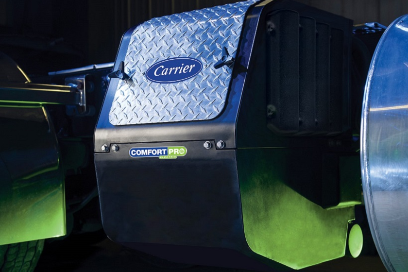 CarrierTransicold is offering the ComfortPro electric auxiliary power unity that runs off of...