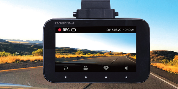 The DashCam 500 records video and photos and connects to a companion app for smartphones.
