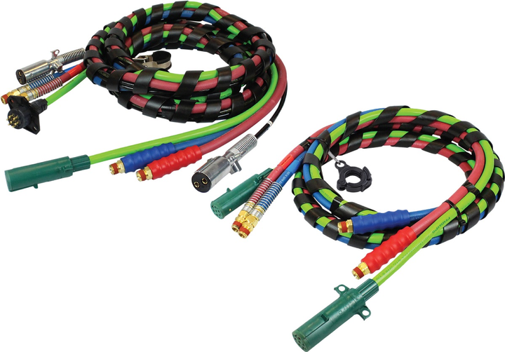 Phillips Industries premium 3-In-1 and 4-In-1 electrical and air combination assemblies with QCP trailer side connections have been improved to reduce fatigue and strain on the plug and seven-way electrical cable.  - Photo courtesy Phillips Industries