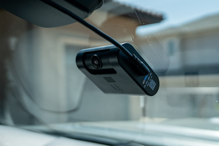 The KeepTruckin dual-facing Smart Dashcam gives fleets visibility into what is happening in the cab to improve driver safety.  -