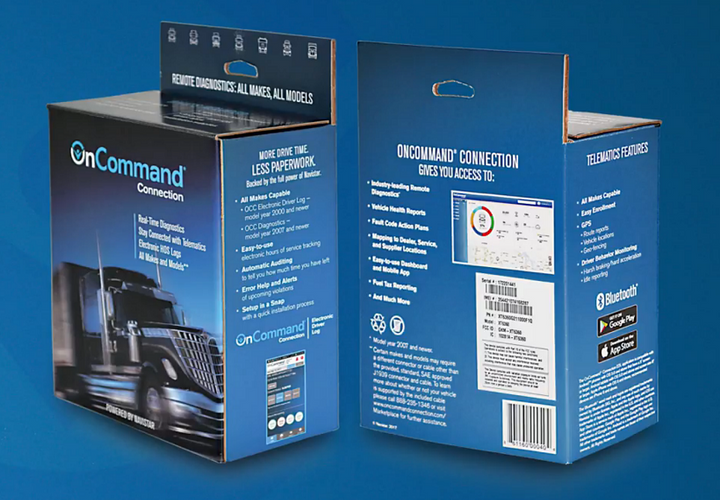 OnCommand Connection is now integrated with Axis TMStransportation managment software.  - Photo courtesy Navistar
