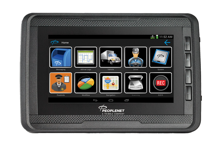 The PeopleNet Display.5 is an Android-powered, fixed mount display designed specifically for the trucking industry.