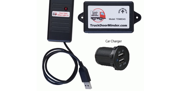The TruckDoorMinder from Two Commas is a cargo door monitoring system that alerts drivers when...